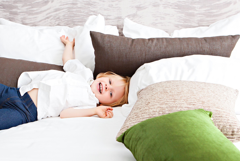 Lækker halvhøj seng til dit barn